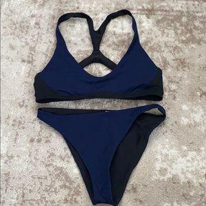 Navy Blue/Black Reversible Lululemon Bikini